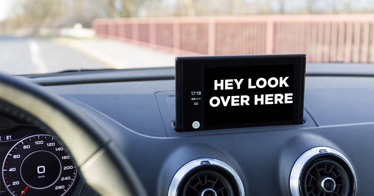 Distracted While Driving by Infotainment System