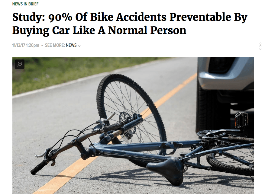 The Onion - Bike Accidents
